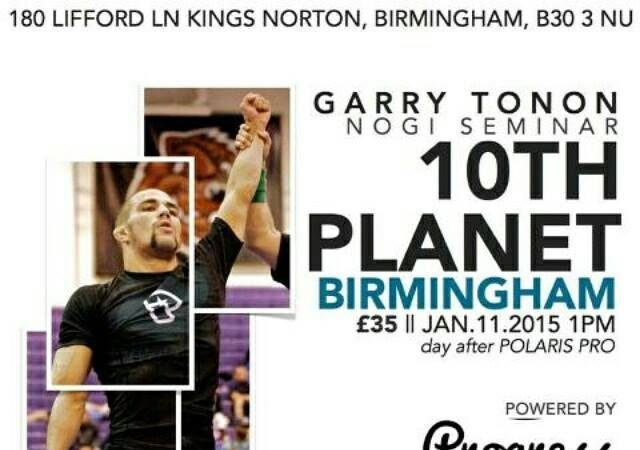UK: Get the chance to learn from Garry Tonon while he's in Birmingham on Jan. 11