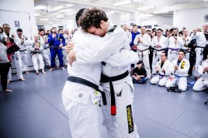 "Jon receiving his black belt. Photo: John ""Ric"" Ricard"