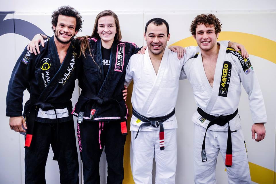 "Marcos Tinoco, Dominyka Obelenyte, Marcelo Garcia, Jonathan Satava. Photo: John ""Ric"" Ricard"