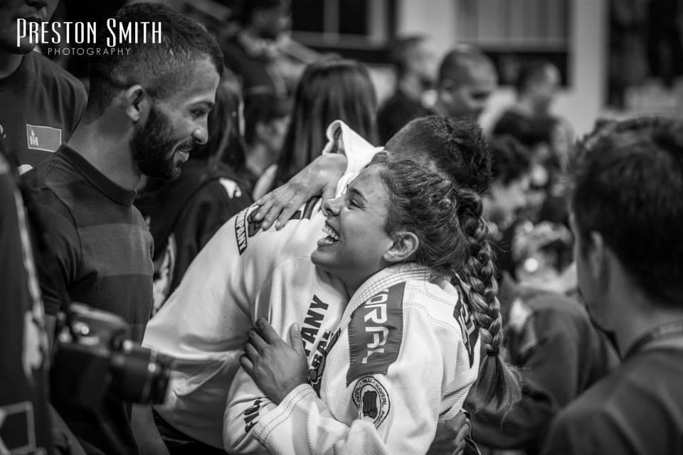 Monique celebrating victory. photo: Preston Smith