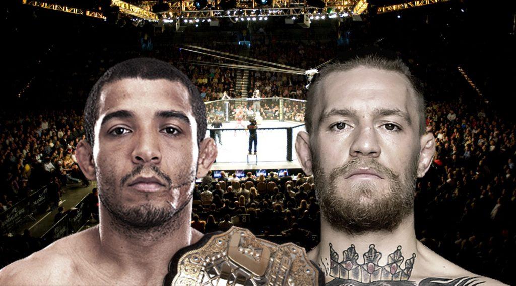 José Aldo e Conor McGregor podem se enfrentar pelo cinturão do UFC. (Montagem em fotos de Zuffa/LLC via Getty Images)