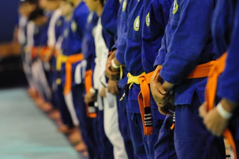 Cerimonia de graduacao na escola de Jiu Jitsu Leao Teixeira em 2014 Foto Divulgacao