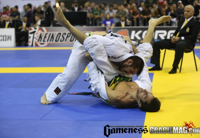 Michael Langhi na final com Rollo no Europeu 2015