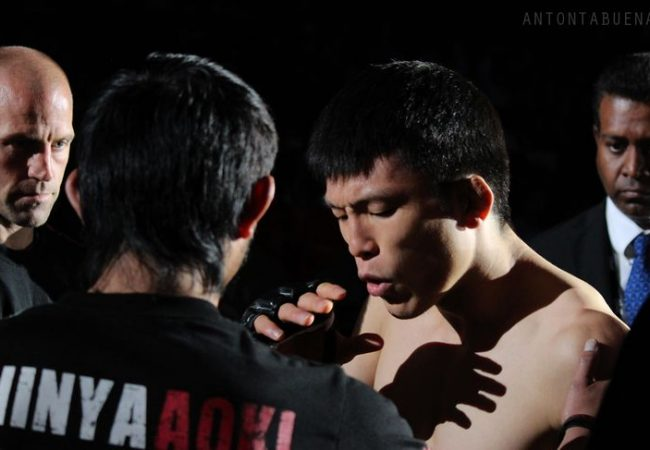 Vídeo: O twister de Shinya Aoki no Inoki Bom-Ba-Ye, na virada do ano