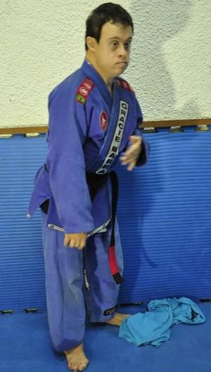 Fabricio Galvão athlete with Down syndrome (Photo: Robson Boamorte)