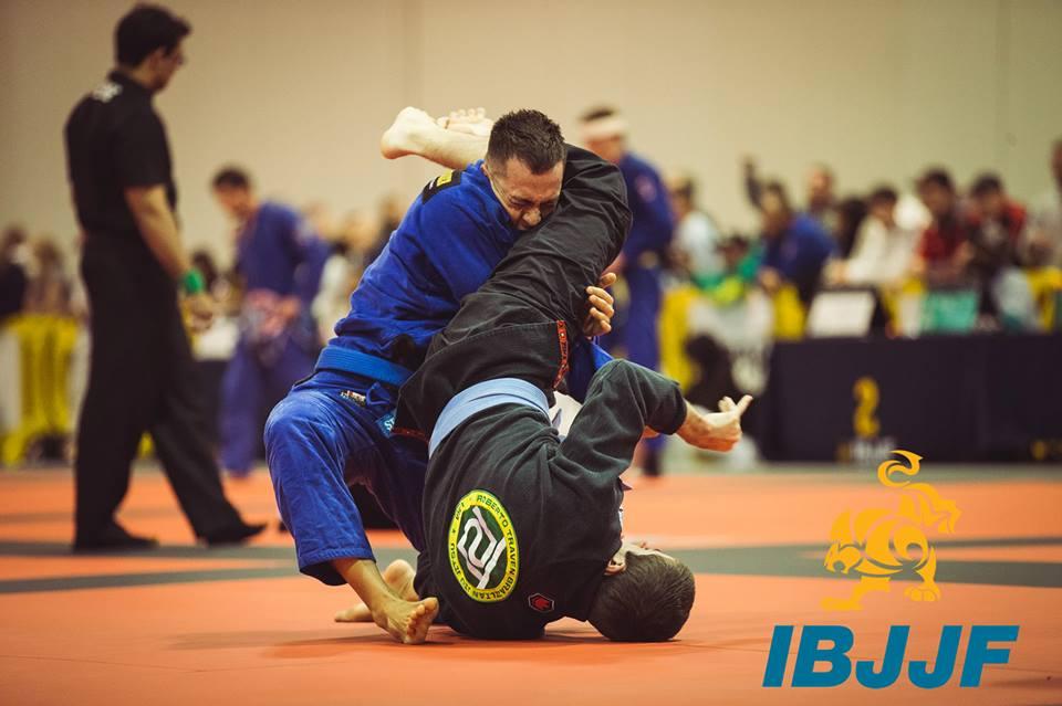 Roberto Traven blue belt student competing at the IBJJF Atlanta Winter Open. Photo: IBJJF
