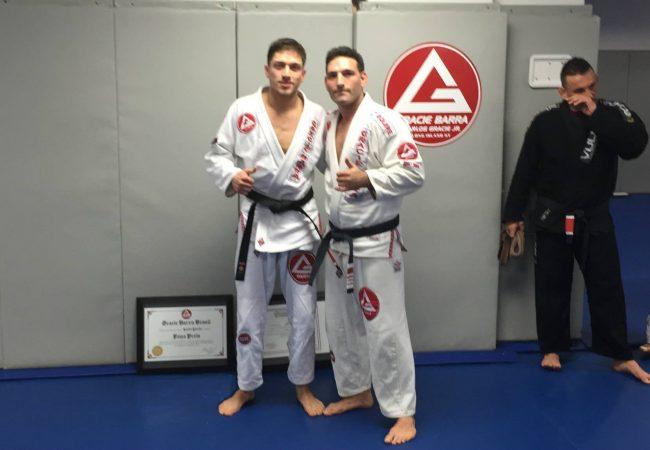 Joe Scarola of GMA Gracie Barra Long Island promotes first black belt