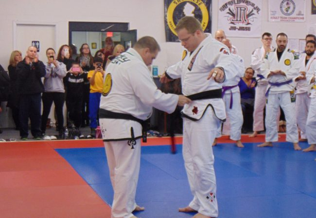 GMA Savarese BJJ Academy kids coach Sean Bermudez promoted to black belt