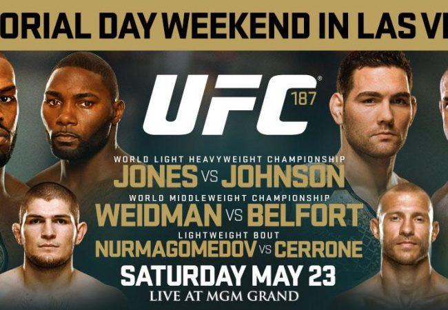 Card galáctico: Jones, Johnson, Weidman e Belfort disputam cinturões no UFC 187