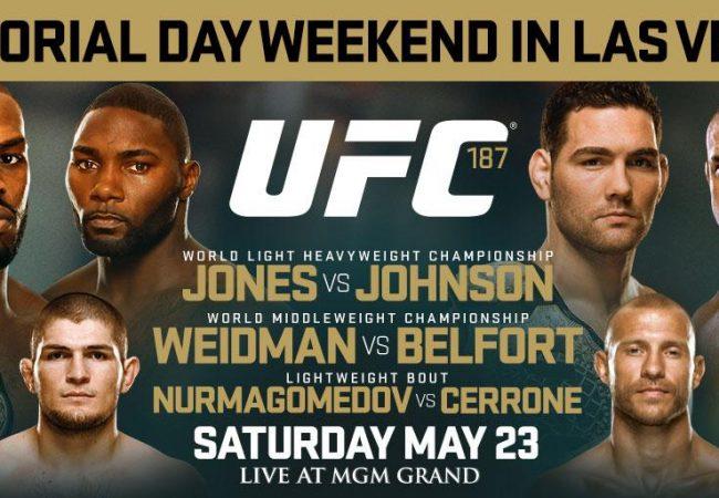 Card galáctico: Jones, Johnson, Weidman e Belfort disputam cinturões no UFC 187