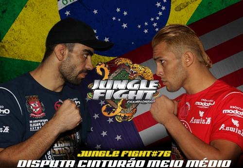 Elizeu Capoeira e americano invicto disputam cinturão meio-médio no Jungle Fight 76