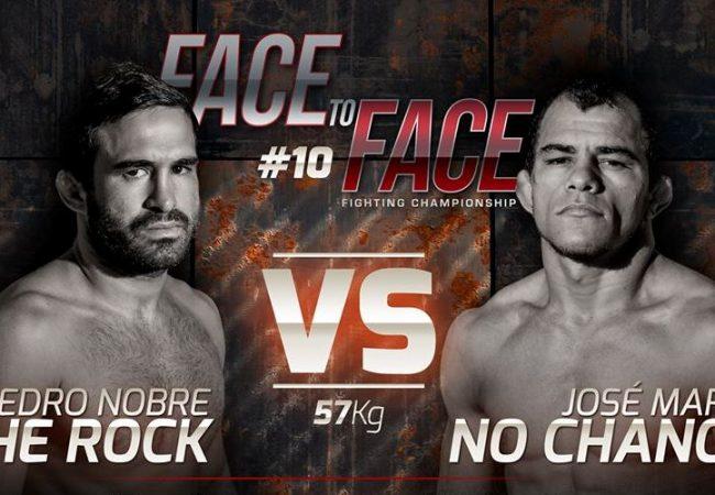 """Ex-UFCs, Pedro Nobre e """"Sem Chance"""" prometem melhor luta do Face to Face 10"""