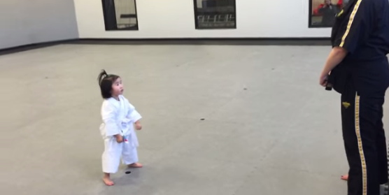Watch a 3-Year-Old White Belt in Taekwondo Reciting the Student Creed