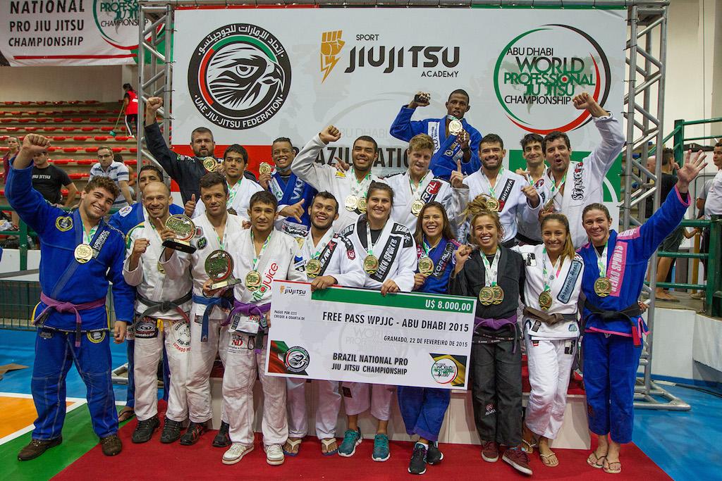 Vencedores do Brazil Pro em Gramado, em 2015. Foto: Rodrigo da Silveira /Sport Jiu-Jitsu Academy