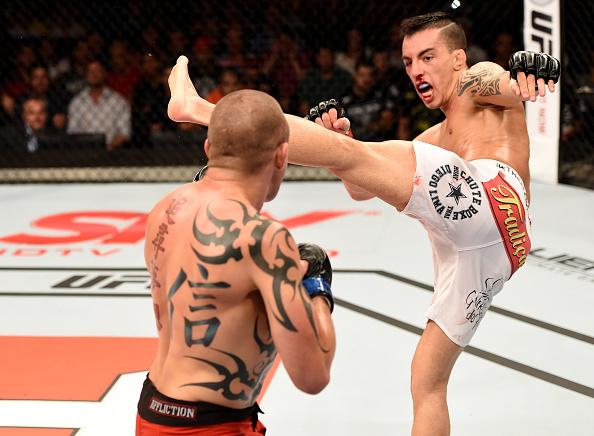 Thomas luta para manter sua invencibilidade no UFC no Canadá. Foto: Buda Mendes/Zuffa LLC via Getty Images