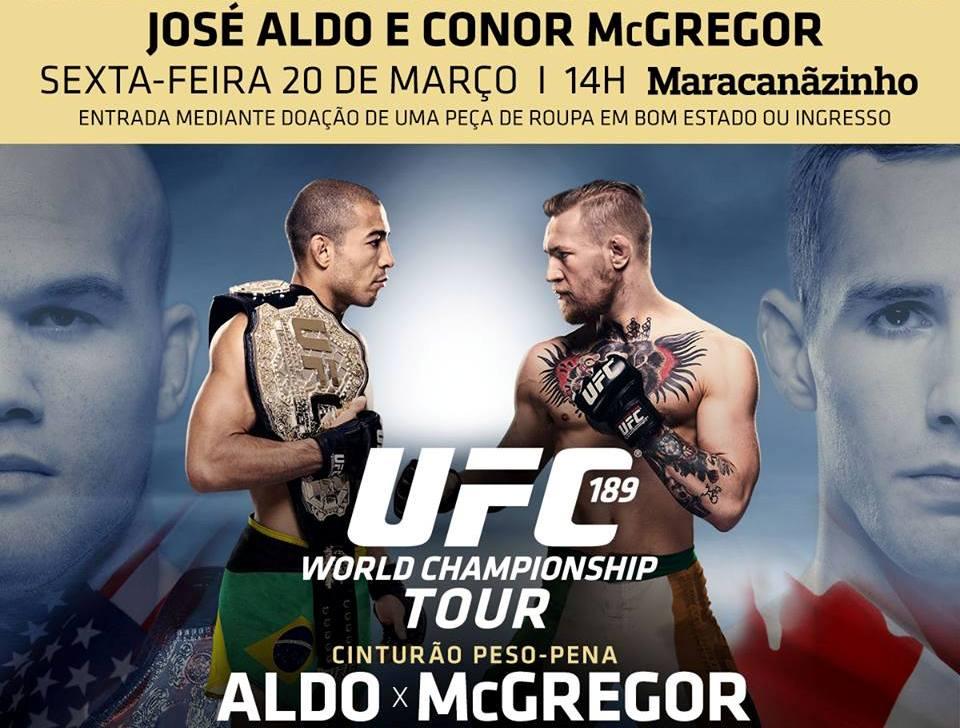 Campeão José ficará de frente com o desafiante Conor McGregor no Maracanãzinho. Foto: UFC/Divulgação