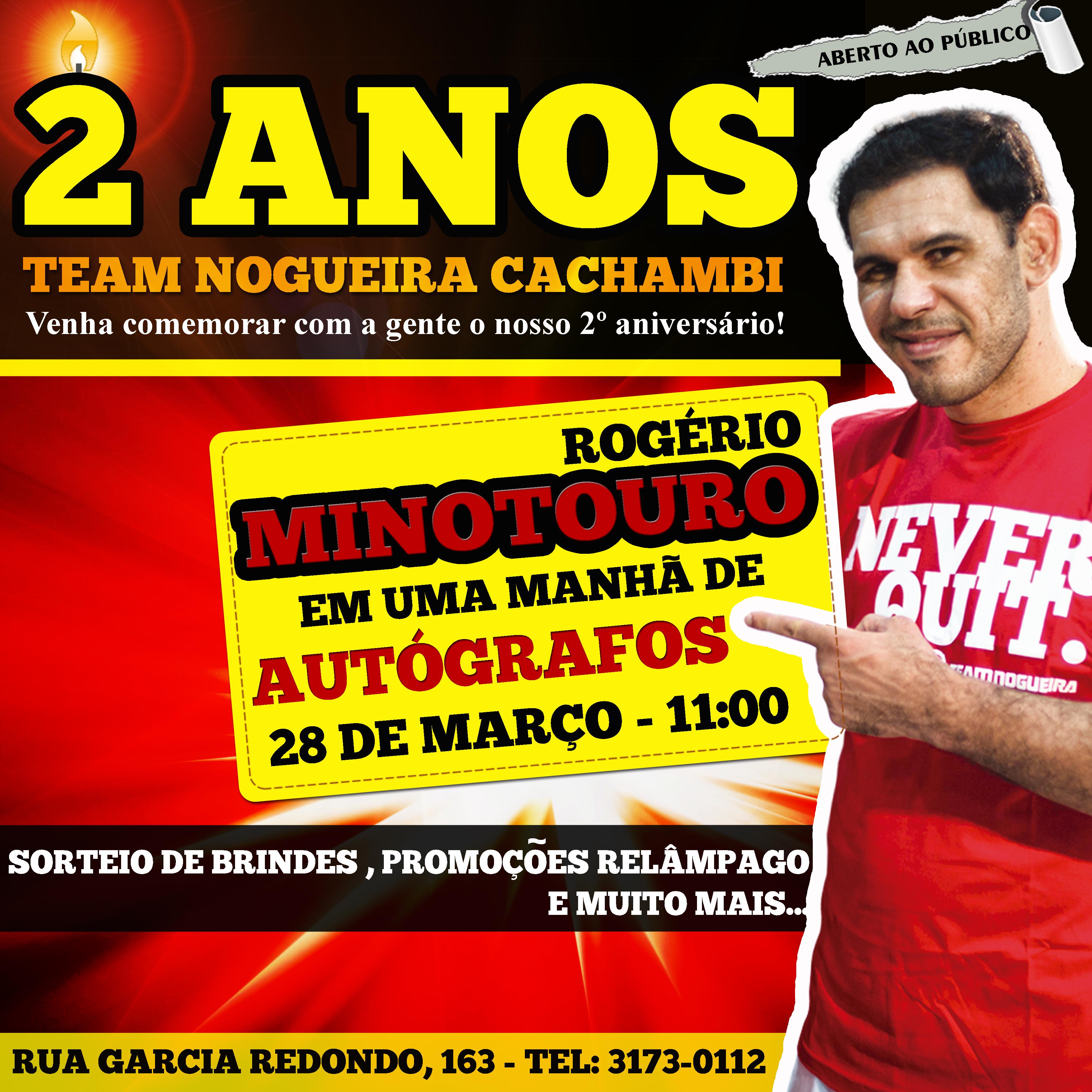 Team Nogueira comemora dois anos. Foto: Divulgação
