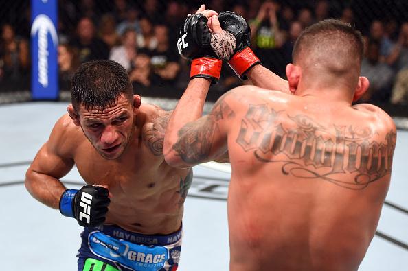 Rafael dominou na trocação e no Jiu-Jitsu. Foto: Josh Hedges/Zuffa LLC via Getty Images