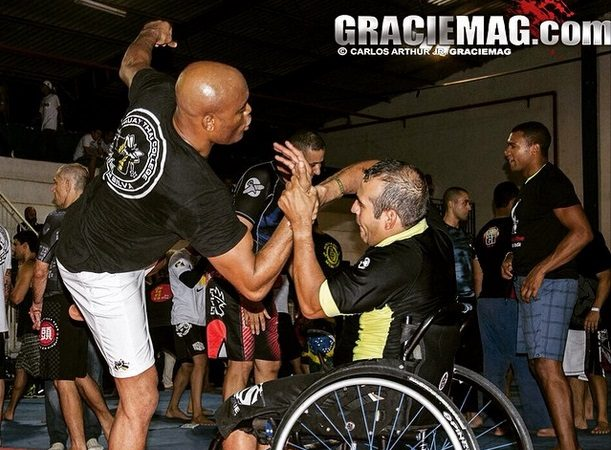Superação: Anderson Silva e a aula de Jiu-Jitsu para um cadeirante