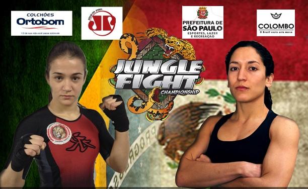 Duelo Brasil x México completa noite com três cinturões em jogo no Jungle Fight
