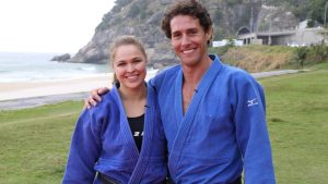 Flavio Canto e Ronda Rousey no Rio Foto Divulgacao