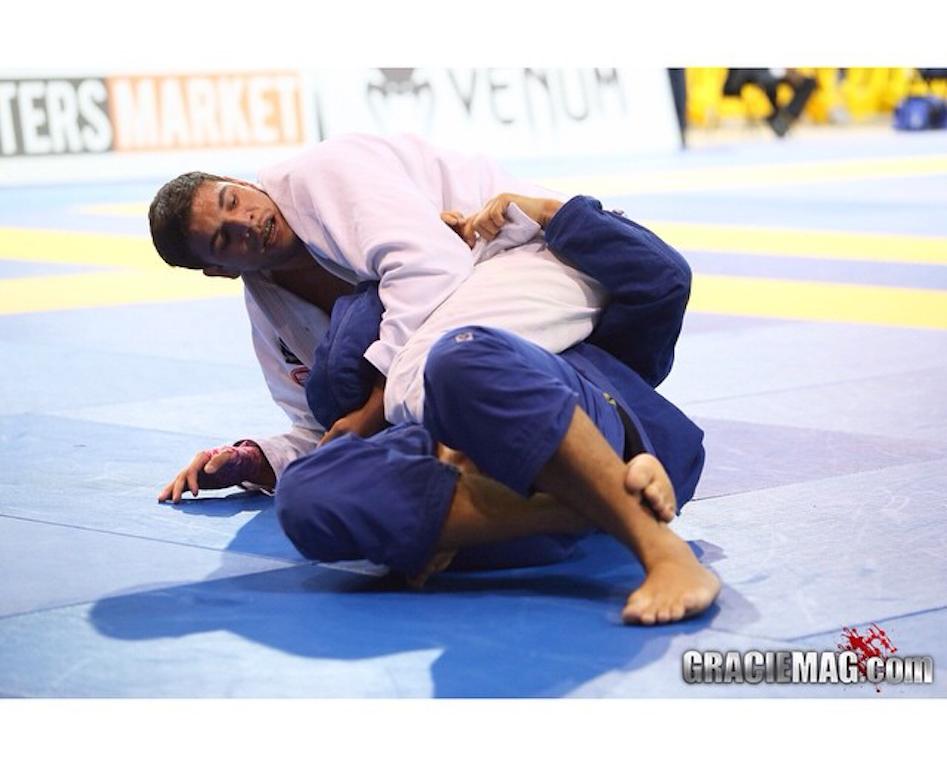 João Gabriel Rocha no Pan de Jiu-Jitsu: a fera da Soul Fighters voltou aos torneios contra Gustavo Dias, no peso pesadíssimo. Foto: Ivan Trindade