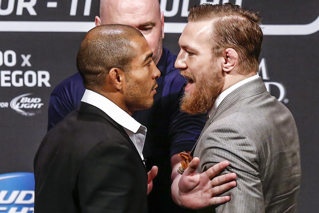 José Aldo encara no Rio o desafiante McGregor no evento de promoção do UFC 189. Foto: William Lucas / Inovafoto