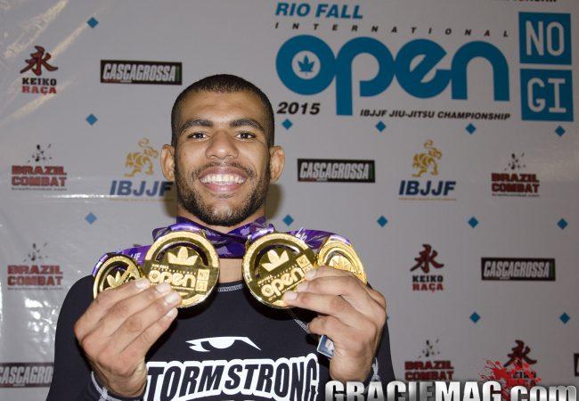 No Rio, Erberth finaliza Caloquinha no absoluto sem kimono e fica com 4 ouros