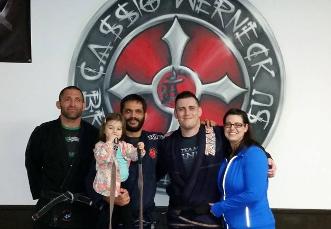 Cassio Werneck promotes two students to black belt rank