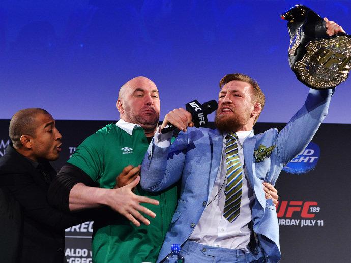 Aldo e Conor McGregor em Dunlin (Jeff Bottari:Zuffa LLC:Getty Images