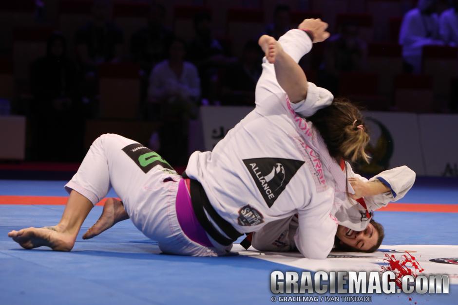 Mackenzie vs. Gabi at the 2015 WPJJC black belt open class semifinal