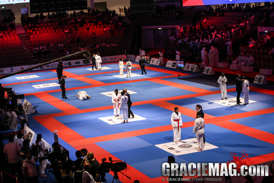 The mat set up for the 2015 WPJJC