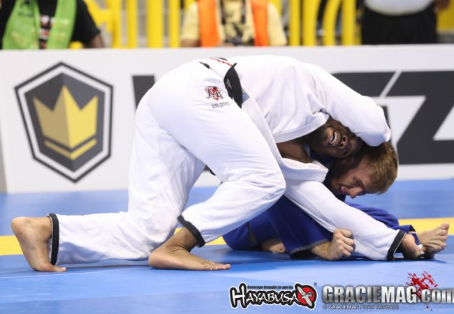 American talent: Tim Spriggs teaches an overhook punch choke from closed guard