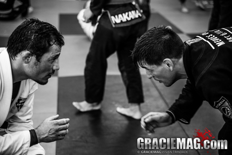 Ed Ramos and Rafael Mendes going for it at the Atos JJ Camp