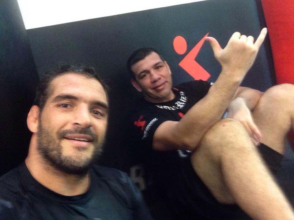 Léo Leite e Pedro Rizzo após o treino. Foto: Arquivo Pessoal