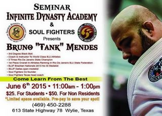 Bruno Mendes invites to technique seminar at Wylie, Texas