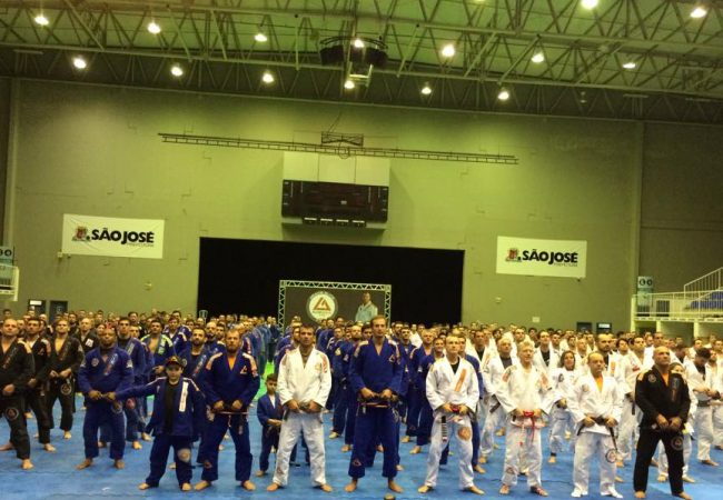 Rilion Gracie awarded the red and black belt on ceremony in Brazil
