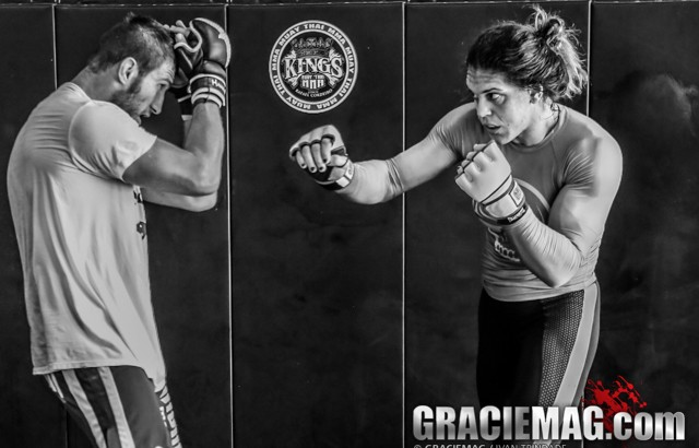 Gabi Garcia treinando MMA. Foto: Ivan Trindade/GRACIEMAG