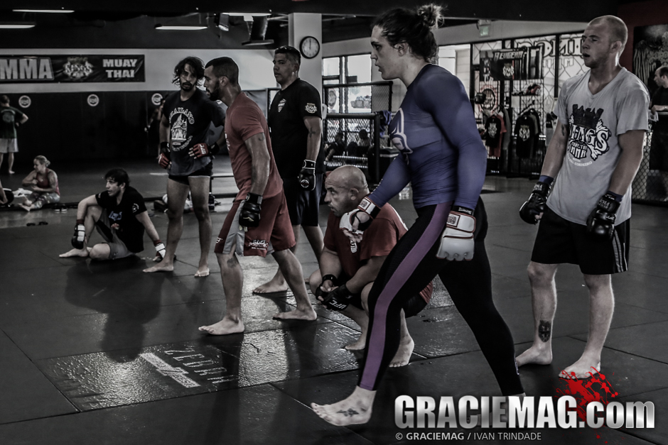 Gabi Garcia training MMA at Kings MMA, in Huntington Beac, CA