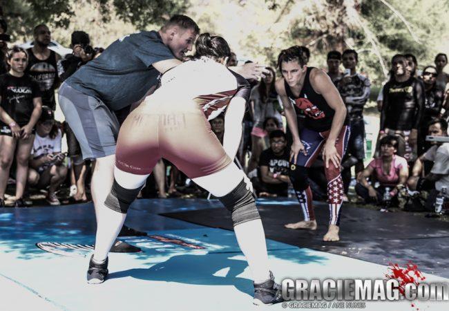 Josh Barnett introduces a catch wrestling match