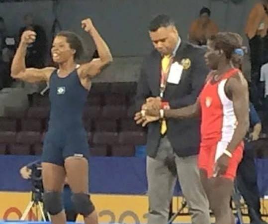 A emoção e garra de Joice Silva, primeira brasileira medalhista de ouro na luta olímpica