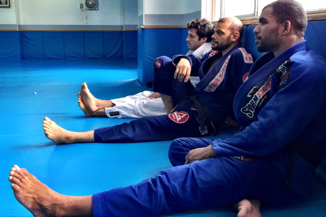 Erberth Santos, Lagarto and Gregor Gracie training in Tokyo. Photo: UAEJJF