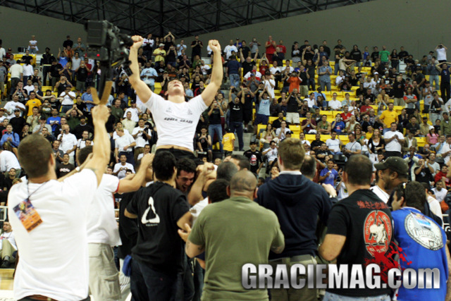 Roger Gracie celebrates at the 2005 ADCC