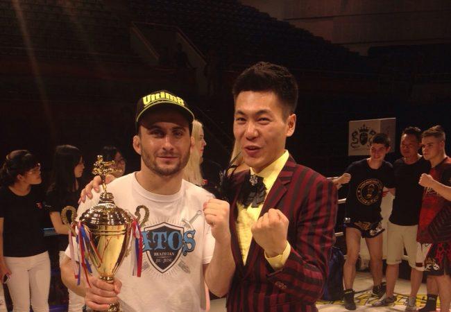 Faixa-preta de Jiu-Jitsu finaliza mais um no MMA na China