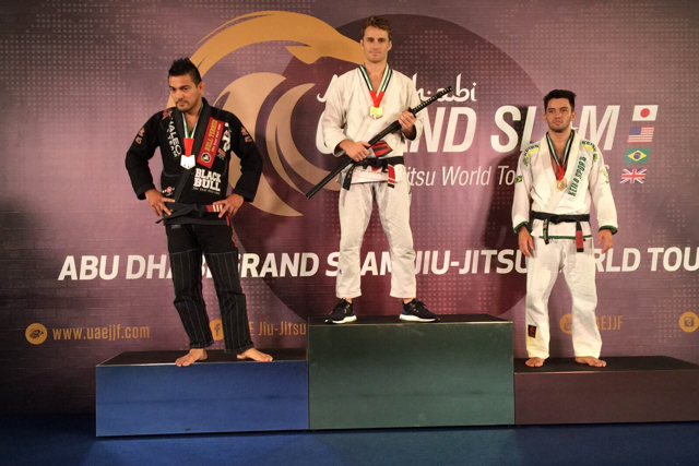 Clark Gracie and the 85kg division podium