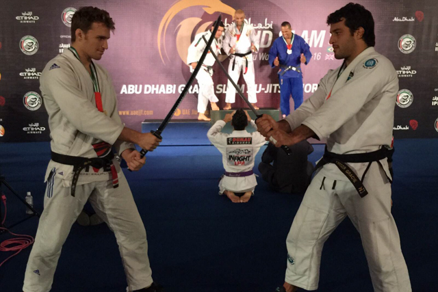 Clark and Gregor Gracie and the katanas. Next event in LA, on Oct. 18