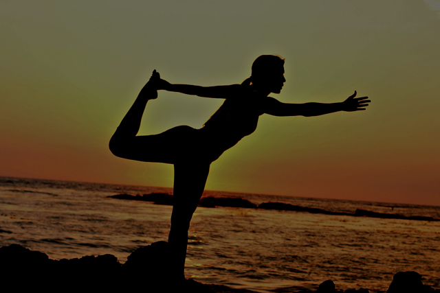 Yoga by the sunset