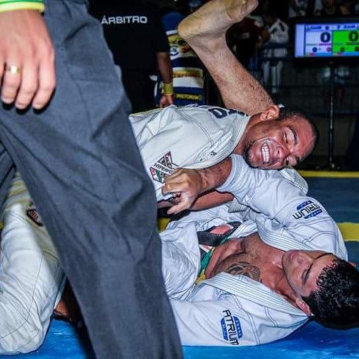 Pedro Moura em ação no Jiu-Jitsu. Foto: arquivo pessoal