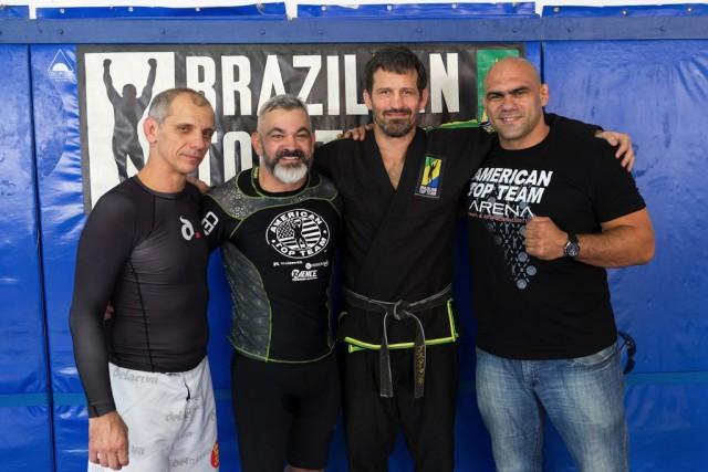 De La Riva, Libório, Bustamante and Jaoude. Photo Clever Barbosa
