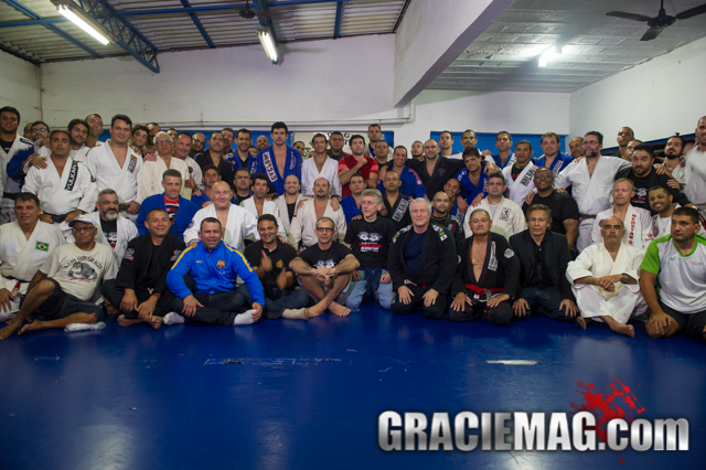 Final group photo at the Carlson Gracie Academy, in Rio